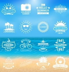 Group summer holidays labels vector