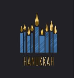 Hanukkah juish jewish menorah simple icon hanuka vector