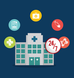 hospital healthy care service icon vector image vector image