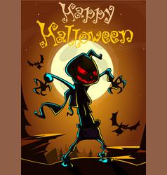 jack pumpkinhead postcard3 vector image