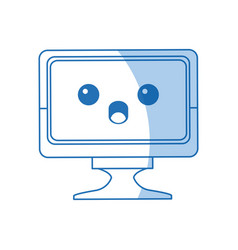 Kawaii screen monitor computer device vector