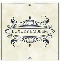 luxury emblem crest elegant template design vector image