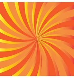 Orange rays Abstract autumn background vector image