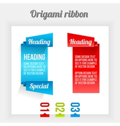 Origami ribbon vector image