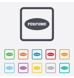 Perfume sign icon glamour fragrance oval symbol vector