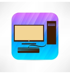 personal computer icon vector image vector image