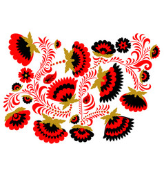 Russian ethnic hohloma style background vector