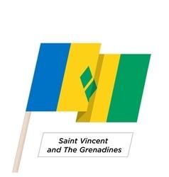 Saint vincent and the grenadines ribbon waving vector