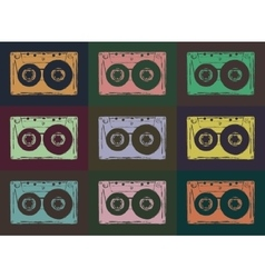 Tape casettes vector image