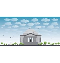 Thomas Jefferson Memorial in Washington DC vector image