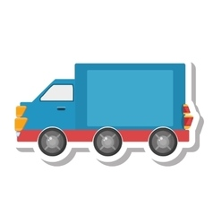 Truck vehicle transport isolated icon vector