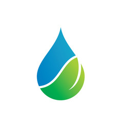 Water drop leaf ecology abstract logo image vector