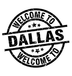 Welcome to dallas black stamp vector