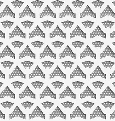 White 3d net on textured white and gray pattern vector image vector image