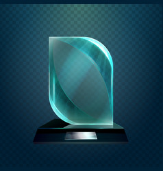 winner glassware award cup or trophy vector image