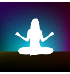 yoga style template design vector image