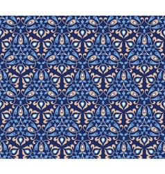 Traditional arabic decor on blue background vector