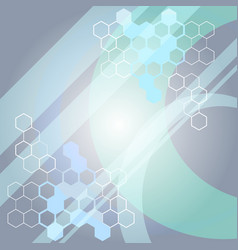 Abstract medical science background with molecule vector