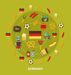 Germany icons round composition vector