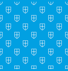Shield for fight pattern seamless blue vector