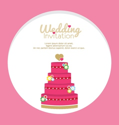 Wedding cakes invitation vector