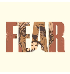 Fear sign vector