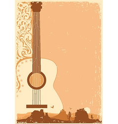 Concert guitar poster music festival on ola paper vector
