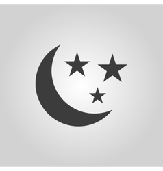 The moon and stars icon night sleep symbol flat vector