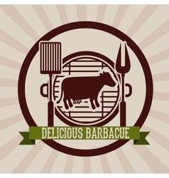 delicious barbecue design vector image