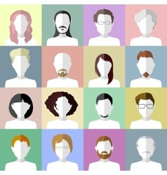 Flat people icons set of stylish people icons on vector
