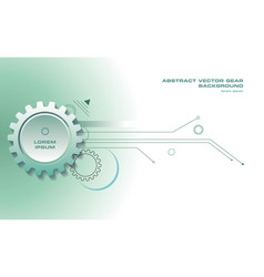abstract gear background with lines in green color vector image