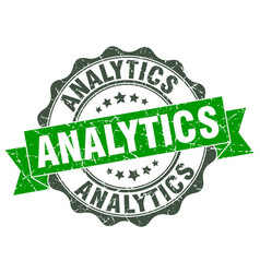 Analytics stamp sign seal vector