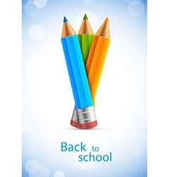 Backgorund with pencils vector image vector image