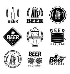 Beer black emblems vector image vector image