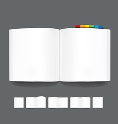 book blank page template for design vector image vector image