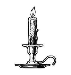 candlestick vector image vector image