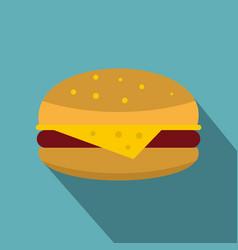 Cheeseburger icon flat style vector