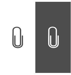 clip icon on black and white background vector image