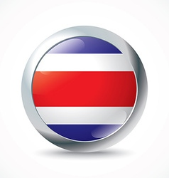 Costa Rica flag button vector image
