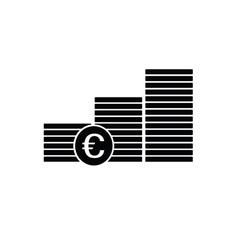finance money euro icon vector image