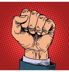 Fist hand business concept vector