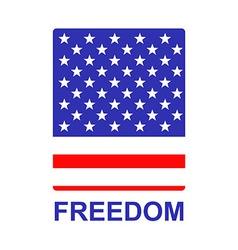 Freedom us flag badge vector