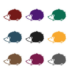 hedgehog icon in black style isolated on white vector image vector image