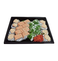 Japanese traditional cuisine food vector image