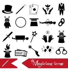 Magician and magic theme set of icons eps10 vector