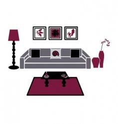 modern living room vector image