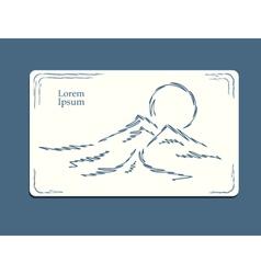 Mountain sunrise sketch vector