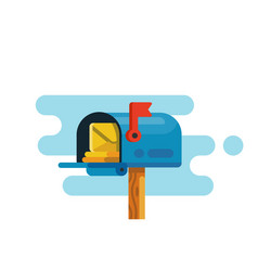 open mail box with mails vector image