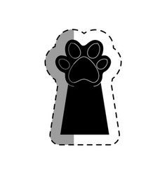 Pet paw up icon vector