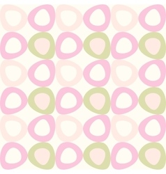Seamles pattern with pink and olive ovals vector